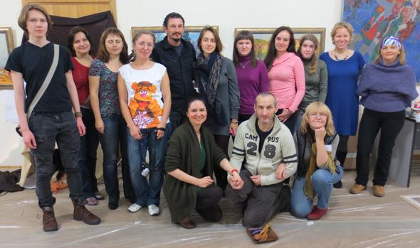 Мастер-класс по акварели с Атанасом Мацуревым, Москва, октябрь 2012