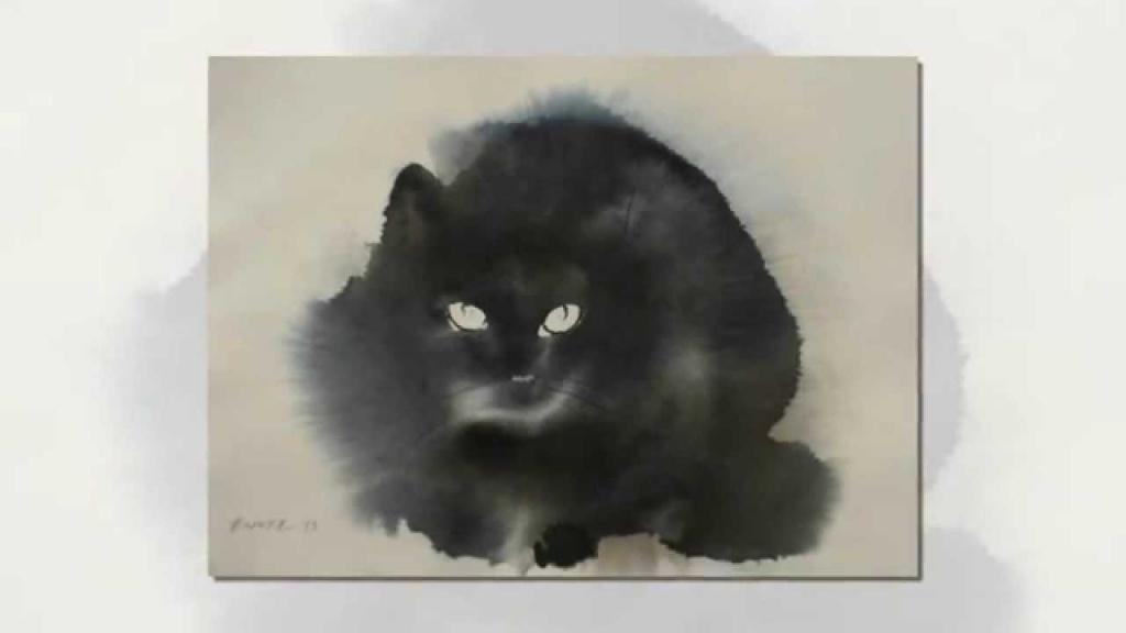 Шерстяная акварель мастер класс кот или кошка пошагово #12